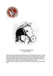 PRAVIDLA PRO SOUTĚŽE PONY ( 8. vydání FEI ... - Pony komise ČJF