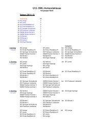 U12VK Nord Spielplan 2011/2012 - Schachverband OWL