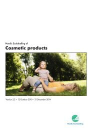 Which cosmetic products may carry the Nordic ... - Svanemerket