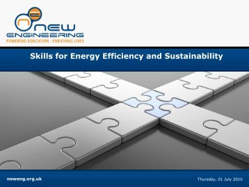 Skills for Energy Efficiency and Sustainability - New Engineering ...