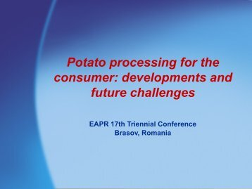 Potatoes for processing