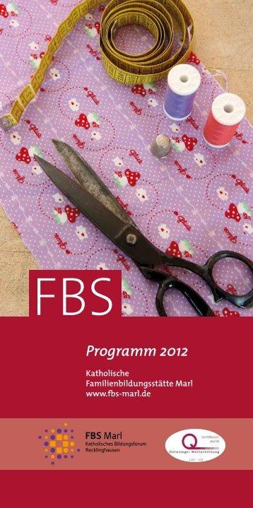 Programm 2012 - Kath. Familienbildungsstätte Marl e.V.