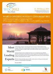 Meet World Leading Experts - WOC2012