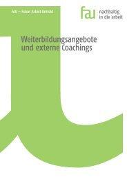 Weiterbildungsangebote und externe Coachings - FAU
