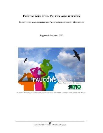 VALKEN VOOR IEDEREEN - Faucons pour tous