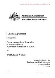 Federation Fellowships - Melbourne Research Office