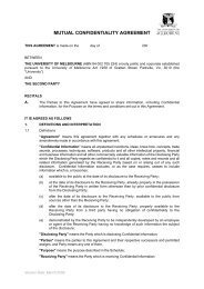 mutual confidentiality agreement - Melbourne Research - The ...