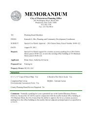 203 Clinton St – Special Use Permit Staff Report - Watertown, NY