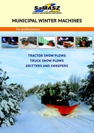 truck and tractor snow plows - Samasz