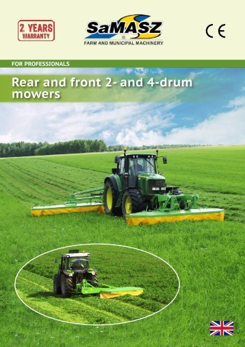 Rear and front 2- and 4-drum mowers - Samasz