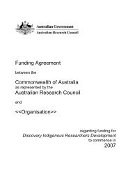 Funding Agreement - Melbourne Research Office