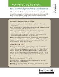 HSP Preventive Services Tip Sheet and Care List - Premera Blue ...