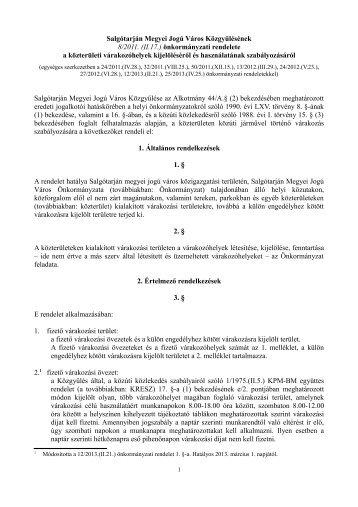 Salgótarján Megyei Jogú Város Közgyűlésének 8/2011. (II.17 ...