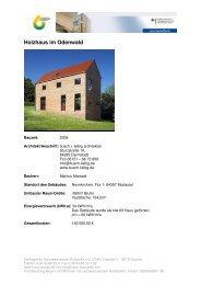 Holzhaus im Odenwald - FNR