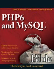 PHP6 and MySQL Bible by Steve Suehring.pdf - Department of ...