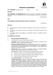 THIS AGREEMENT is made on - Melbourne Research - University of ...
