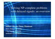 Solving NP-complete problems with delayed signals: an ... - EMCC