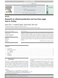 Research on ethanol production and use from sugar beet in Turkey
