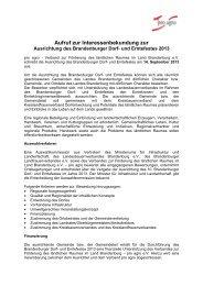 Aussschreibung Dorf-undErntefest-2013 - pro agro eV