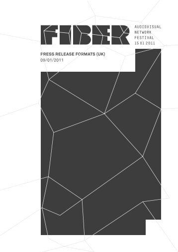 PRESS RELEASE FORMATS (UK) 09/01/2011 - Fiber Festival