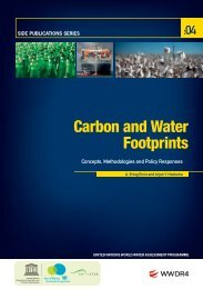 Carbon and water footprints: concepts ... - UNESDOC - UNESCO