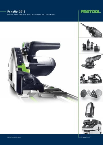 Pricelist 2012 - Festool United Kingdom
