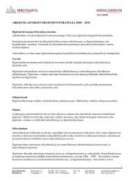 arkistolaitoksen digitointistrategia 2008 – 2010 - Arkistolaitos