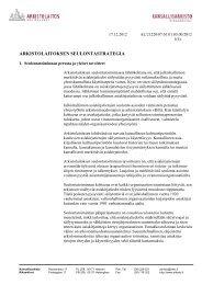 ARKISTOLAITOKSEN SEULONTASTRATEGIA - Arkistolaitos