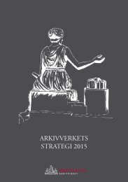 ARKIVVERKETS STRATEGI 2015