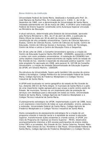 HIstórico - Prefeitura Municipal de Santa Maria