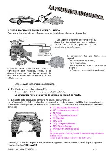 Pollution automobile pdf - Académie de Nancy-Metz