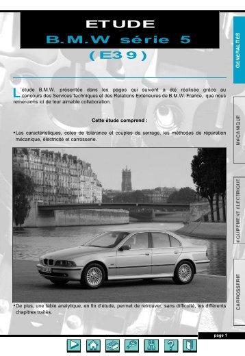 ETUDE B.M.W série 5 (E39) - Auto-Tuto
