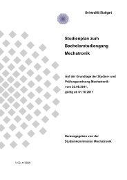 Studienplan - Mechatronik - Universität Stuttgart
