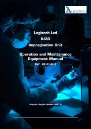 Logitech Ltd IU30 Impregnation Unit Operation and Maintenance ...