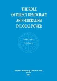 Democratic Federalism - Academia Europea de Ciencias y Artes