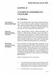 kapitel ii ulighed og omfordeling i danmark - De Økonomiske Råd