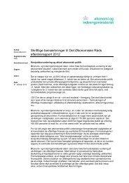 Skriftlige bemærkninger til Det Økonomiske Råds efterårsrapport 2012