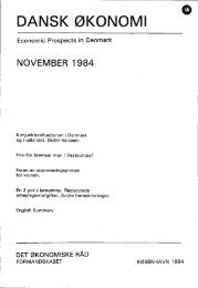 Dansk økonomi, november 1984 - De Økonomiske Råd