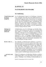 Kapitel II: Fattigdom i Danmark - De Økonomiske Råd