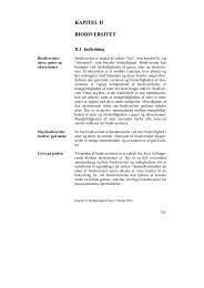 KAPITEL II BIODIVERSITET - De Økonomiske Råd