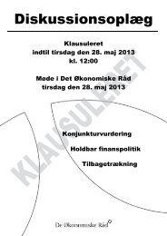 Dansk Økonomi, forår 2013 - De Økonomiske Råd