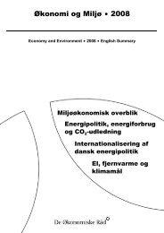 Økonomi og Miljø $ 2008 - De Økonomiske Råd