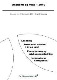 Økonomi og Miljø $ 2010 - De Økonomiske Råd