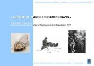 « RÉSISTER DANS LES CAMPS NAZIS » - unadif