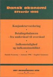 Dansk økonomi, efterår 1996 - De Økonomiske Råd