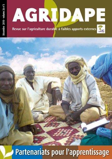Partenariats pour l'apprentissage - AgriCultures Network