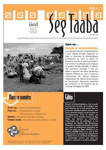 Volume 2003 - n°1 - IED afrique