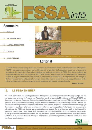 Sommaire Editorial - IED afrique