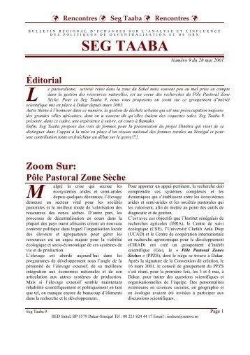 Volume 2001 - n°9 - IED afrique