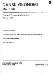 Dansk økonomi, maj 1982 - De Økonomiske Råd